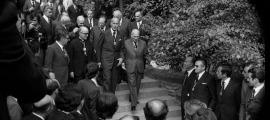 Un moment de la visita de Valéry Giscard d'Estaing al país l'octubre del 1978.