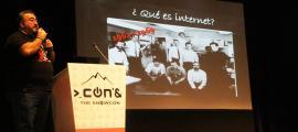Ángel-Pablo Avilés, expert en ciberseguretat i ciberdelinqüència, membre de l'organisme X1RedMasSegura, ha participat aquest dilluns al Conand.