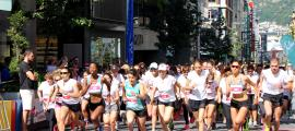 Un moment de la setena edició de la Cursa de la dona.