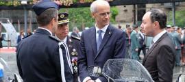 El cap de Govern, Toni Martí, durant la celebració del dia de la patrona de la policia.