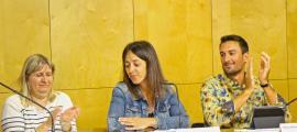 Anna Moles, Gemma Riba i Benjamin Komac en la presentació del 12è Seminari internacional de gestió i conservació de la biodiversitat
