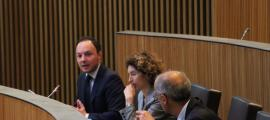 El ministre d'Afers Socials, Justícia i Interior, Xavier Espot, en una de les seves intervencions ahir al Consell General.