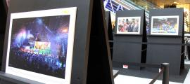 L'exposició fotogràfica presentada per l'Agència de Notícies Andorrana al centre comercial illa Carlemany aquest dilluns.