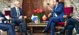 Trobada del cap de Govern, Toni Martí, amb el president de Guatemala, Jimmy Morales.