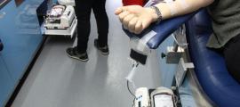 Una campanya de donació de sang.