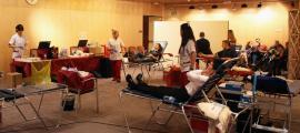 Campanya de donació de sang.
