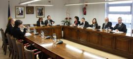 Un moment de la sessió del consell de comú d'Escaldes-Engordany, aquest dilluns.