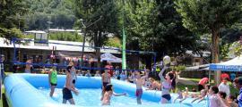 Els infants de la parròquia d'Andorra la Vella en una de les activitats d'estiu.