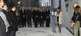 Un moment de la inauguració de l'Espai Columba.