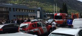 Moment en què els bombers han arribat al Lycée.