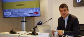 Enric Torres, durant la roda de premsa celebrada aquest dimarts.