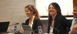 La consellera de Finances i Pressupost del Comú d'Ordino, Maria del Mar Coma, durant el consell de comú d'aquest dijous.