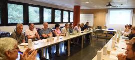 Un moment de la reunió de l'Agrupació Catalana d'Escoles de Doctorat (ACED), celebrada a l'UdA.