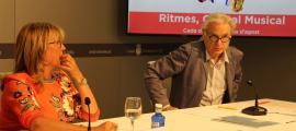 Mònica Codina i Josep Maria Escribano en la presentació.