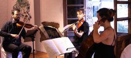 Un moment de l'actuació del Trio Goldberg, a Casa de la Vall.