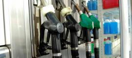 Sortidors en una gasolinera d'Andorra.
