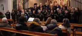 Actuació de Nadal de la Coral Casamanya a l'església parroquial d'Ordino.