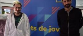El president del Fòrum de la Joventut d'Andorra, Joan Toríbio, a l'esquerre.
