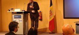 El catedràtic del departament d'Enginyeria Química i de l'Institut de Tècniques Energètiques de la Universitat Politècnica de Catalunya, Jordi Llorca, en la xerrada de l'any passat.