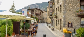 El carrer Major d'Ordino.