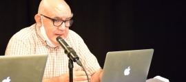 L'antropòleg i professor de la Universitat de Barcelona, Manuel Delgado, aquest dissabte a l'Auditori del Palau de Gel de Canillo