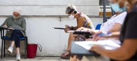 Un dels tallers que ha ofert el comú d'Andorra la Vella a la gent gran aquest estiu.
