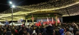 Encesa dels llums d'Andorra la Vella el Nadal passat.