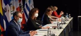 La ministra d'Educació i Ensenyament Superior, Ester Vilarrubla, durant la seva intervenció a la 27a Conferència iberoamericana de ministres d'Educació.
