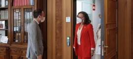 El cap de Govern, Xavier Espot, i la secretària general iberoamericana, Rebeca Grynspan, durant una de les seves trobades.