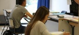 Estudiants durant uns exàmens.