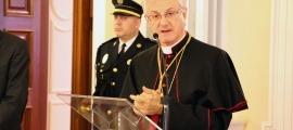 El copríncep episcopal, Joan-Enric Vives, durant un discurs.