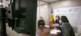 La ministra Ubach va intervenir de forma telemàtica.