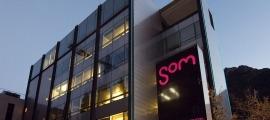 Façana de l'edifici d'Andorra Telecom.