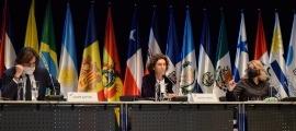 Un moment de la reunió extraordinària de ministres iberoamericans d'Afers Exteriors.