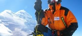 L'alpinista rus Denis Urubko.