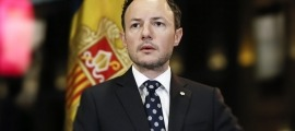 El cap de Govern, Xavier Espot, durant la seva intervenció telemàtica.