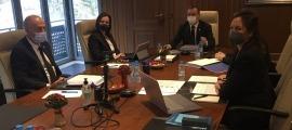 Un instant de la sessió de consell de comú celebrada aquest matí.