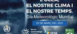El cartell amb el lema del Dia mundial de la meteorologia.