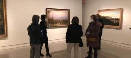 La visita que els usuaris de L'espai han fet al Museu Carmen Thyssen Andorra.