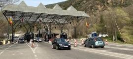 Una imatge de la frontera hispanoandorrana durant aquesta Setmana Santa.