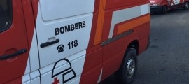 Imatge d'una ambulància del cos de bombers.