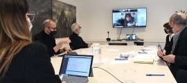 La primera trobada del CAP d'aquest any, celebrada aquest dimarts a la Seu del ministeri de Cultura.