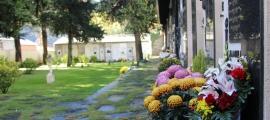 El cementiri antic d'Andorra la Vella el dia de Tots Sants.