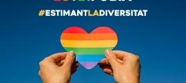 El cartell que s'ha editat amb motiu del Dia internacional contra la LGTBIfòbia.