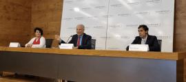 D'esquerra a dreta, María Zarco, directora financera d'Andbank, Josep Maria Cabanes, Sotsdirector General de Banca País d'Andbank, i Abel Navajas, CEO de Woonivers.