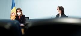 Vilarrubla i Riba durant la presentació.