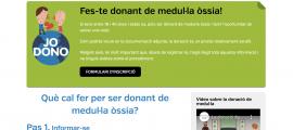 Captura de pantalla del lloc web per inscriure's.