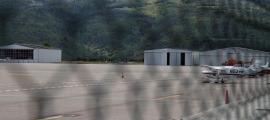 Vista de l'aeroport Andorra-la Seu