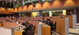 Els grups parlamentaris durant el debat d'orientació política.