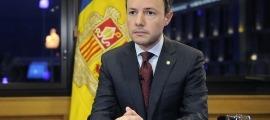 El cap de Govern, Xavier Espot, en una compareixença anterior.